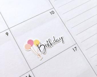 Birthday planner stickers