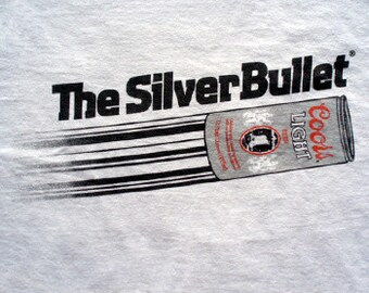 Coors Light Beer t-shirt the silver bullet budweiser pabst oly mens ladies kids
