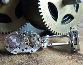 ROTARY Vintage Watch Movement Cufflinks