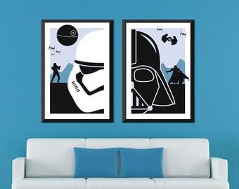 Star Minimalist: Darth Vader & Stormtrooper Set