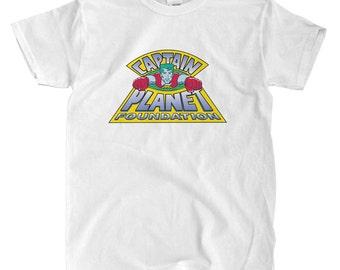 Captain Planet Logo - White T-shirt