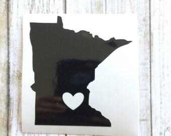 Minnesota Decal | Minnesota Love | Vinyl Decal Minnesota