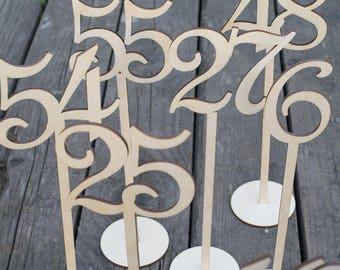 Wedding Table Numbers, Wedding Table Numbers Set, Wedding Table Decor, Table Numbers, Wood Table Numbers