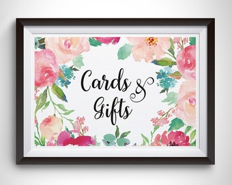 Cards and Gifts Sign Printable, Wedding Signs, Cards and Gifts Wedding Signs, Wedding Signs and Banners, Wedding Decor