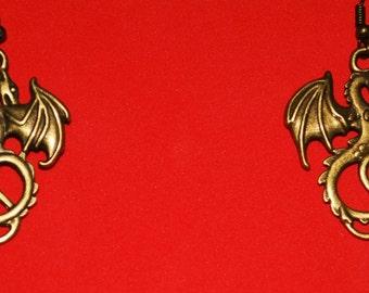 steampunk dragon earrings uk seller