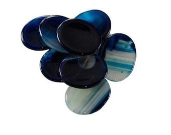 """Blue Onyx Worry Stone ~1 - 1 3/4"""""""