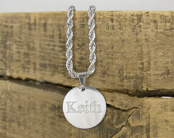Personalized Men's Necklace Custom Engraved Name Necklace Boyfriend Husband Gift for Him Stainless Steel Jewelry for Man |2583