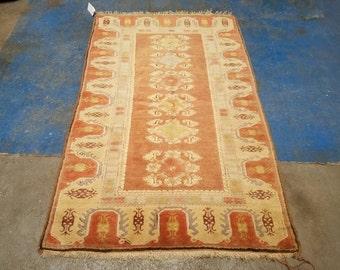 Turkish rug vintage 3.6 x6.6