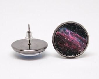 Galaxy earrings Cosmos earrings Space jewelry Girlfriend gift Galaxy jewellery Universe Astronomy Gift for girls Space earrings Outer space