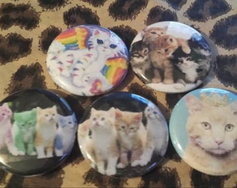 Cats Button Set of 5