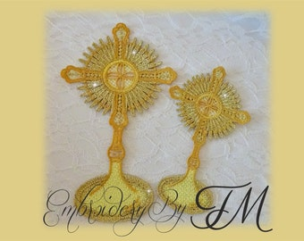Monstrance lace design / two sizes/ 5x7 and 4x4 hoop