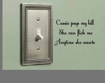 Personalized light switch graphic