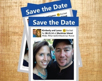 Facebook Invitation, Personalized Invitation, Custom Save the Date, Custom Invitation, Social Media, Facebook Save the Date, Likes This