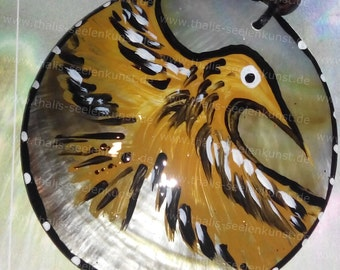 Eagle Necklace with Capiz shell 6 cm animal