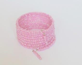 Ladies Bracelet, Wrap Bracelet, Nine times Wrap, Memory Wire Bangle, Jewellery, Bracelet, Beaded Memory Wire, Jewellery, Summer