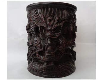 Chinese Brush Pot from Zitan wood