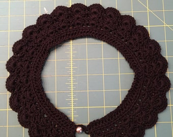 Hand crochete Peter Pan collar (adult size)