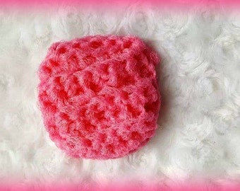 Scrubbing pad candy pink/nylon net/scrubbing sponge/nylon tawashi/kitchen accesory cleaning dishes bathroom/ecological scrubbing pad