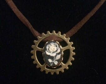 Gear Rose Necklace