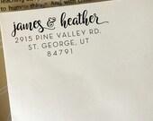Custom Return Address Stamp, Wedding Address Stamp, Self Inking Address Stamp, Personalized Housewarming Gift, Wooden Eco Rubber Stamp
