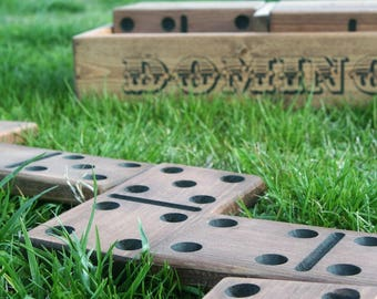 Yard Dominoes - Domino Game - Lawn Game - Outdoor Games - Summer Games - Wedding Guest Book