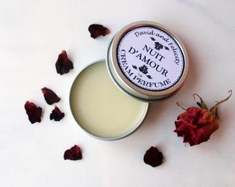 Nuit D'Amour - Cream Perfume - Solid Perfume - All Natural Perfume - Travel Perfume - Rose Perfume - Essential Oils - Solid Fragrance