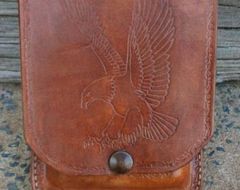 Leather Phone Case 'Eagle' Design