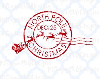 North Pole Postage SVG,EPS,PNG,Studio