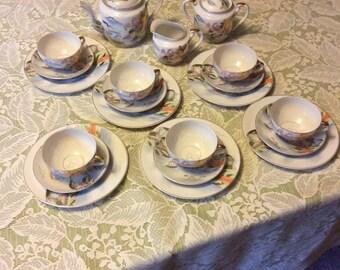Lithopane Tea Set