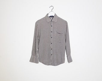 Vintage cotton waffle frabic women's shirt | Size Small