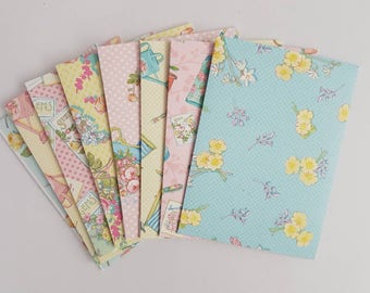 Set of 8 Gardening Gift Card Envelope// Gift Card Holder //Business Card Holder //Mini Envelopes //Scrapbooking Envelopes // Coin envelopes