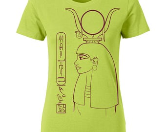 Egypt Ladies Shirt Hathor - personalized with your name in hieroglyphs
