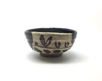 Black Oribe Guinomi by Teppei Terada