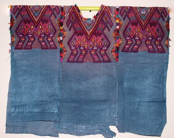 Special unique  1950s huipil from Guatemala Chichicastenango