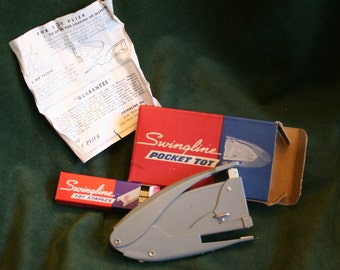 "Vintage Swingline ""Pocket Tot"" Stapler, All Metal, With Staples, NIB"