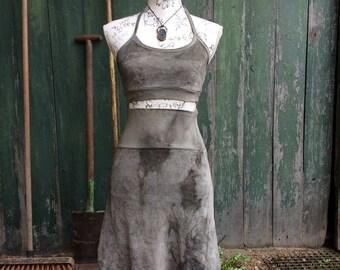 lunar dress grey olive size s