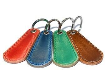 Leather Key Chain / Leather Key Holder, Leather Key Fob, Mens Keychain / Keychain Wristlet, Key Ring Holder, Key Fob Wristlet