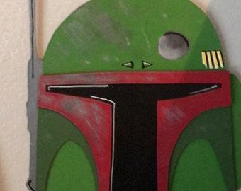 Star Wars Boba Fett helmet cutout