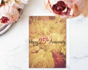 Happy 25th Anniversary - Anniversary Card