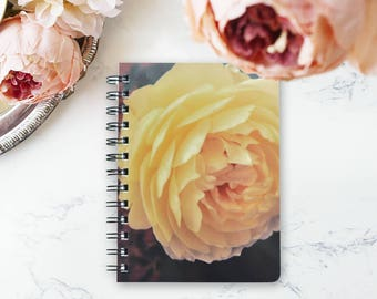 Personalized Rose Floral Wirebound Notebook