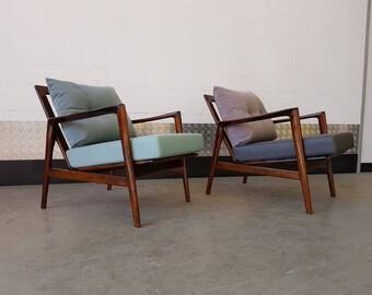 Mid Century Armchair Scandinavian Mid Century Upholstered Vintage