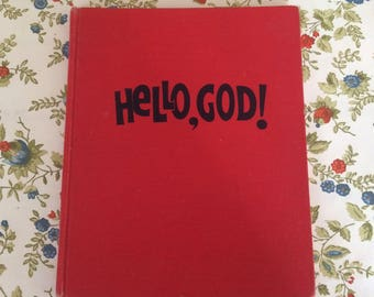 Hello God Vintage Children's Prayer Book Christian Book
