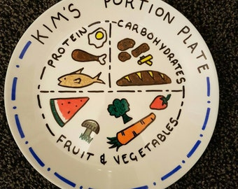 Diet portion plate, slim, slimming world, weight watchers, Lose weight, healthy eating, personalised plate