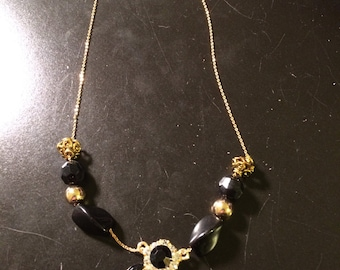 Fancy Gold and Black necklace