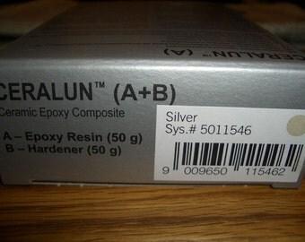 SALE 25% - Swarovski CeralunTM - silver - 2 x 50gr