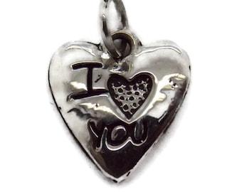 Heart Love Pendant Charm .925 Sterling Silver!!