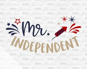 Mr. Independent Svg, All American Boy Svg, 4th of July Svg, Patriotic Svg, Summer Svg, Monogram Frames Svg, fourth of july svg, memorial day