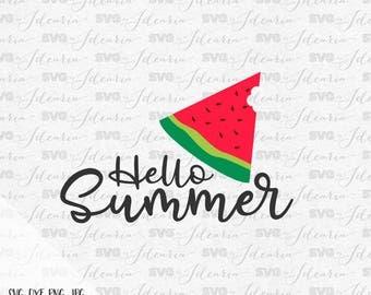 Watermelon Svg, One in a melon svg, Hello Summer svg, summer svg, beach svg, cut files, cricut, silhouette, summer 2017 svg, pineapple svg