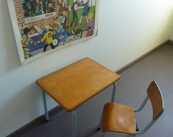 Desk and Chair schoolboy / desk MULLCA, 1960s vintage