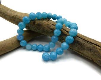 40 aquamarine beads - 8 mm - gem stone - gemstone - semi precious stone - A083